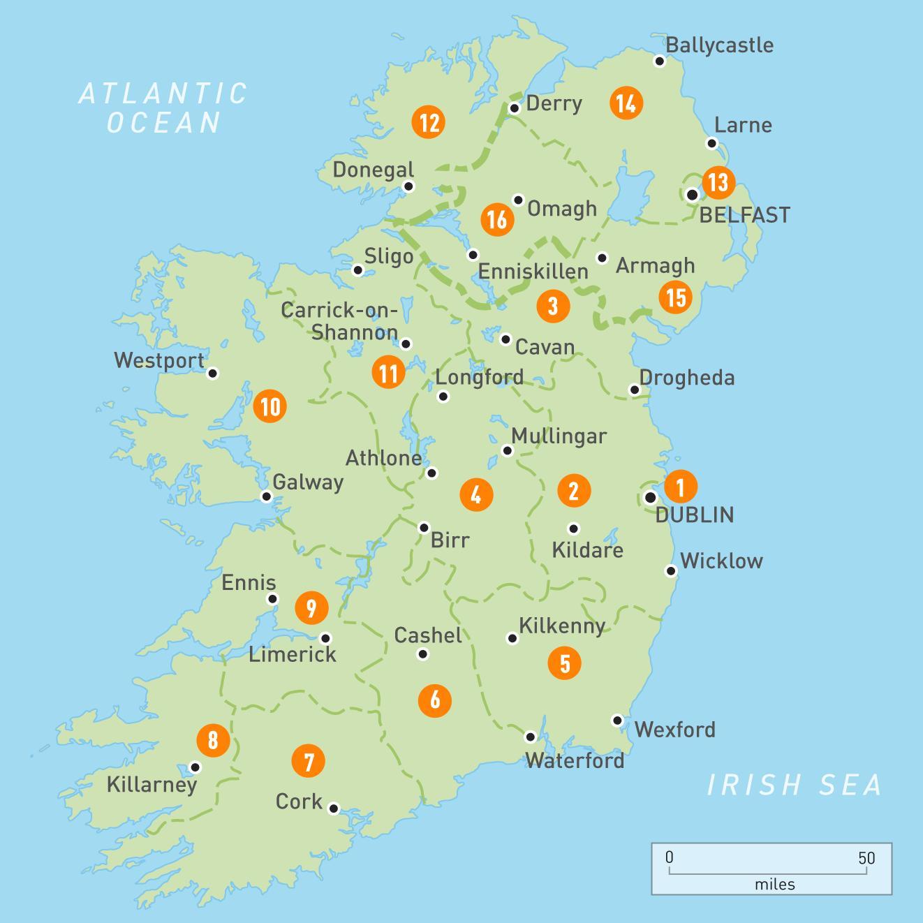 Irlanti Kartta Irlannin Kartta Pohjois Eurooppa Eurooppa