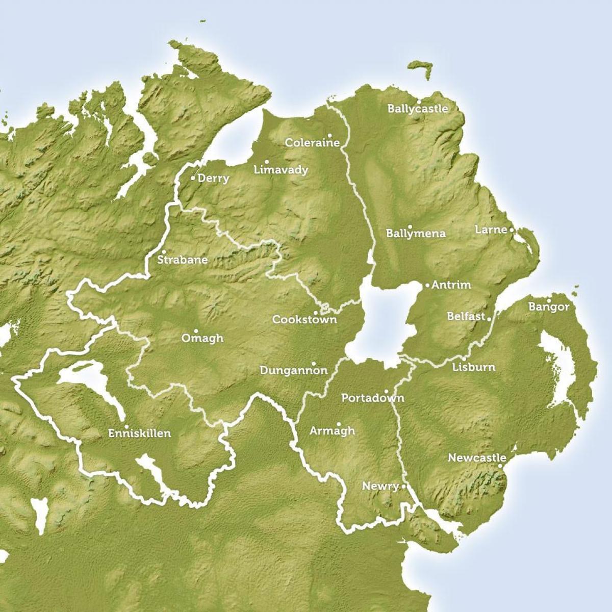 Alueellinen Kartta Pohjois Irlanti Kartta Alue Kartta Northern
