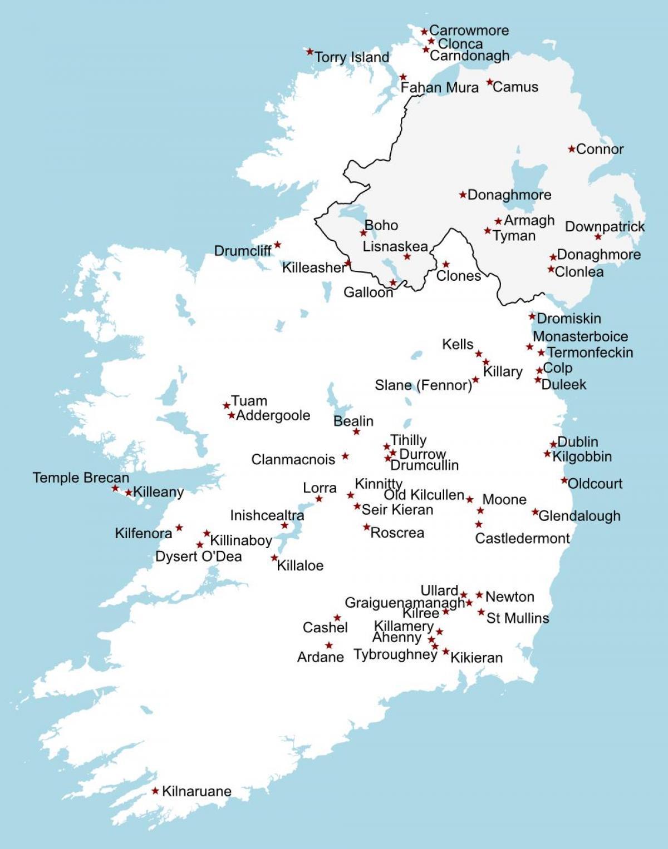 Irlanti On Katso Kartta Irlanti Nahtavyydet Kartta Pohjois